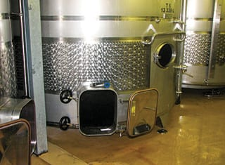 Capital expenditure of wine cellars