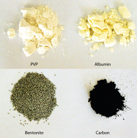Potential alternatives for bentonite