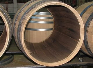 The use of whisky barrels for wine maturation
