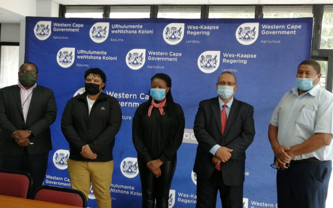 Western Cape Department of Agriculture appoints 120 graduate interns